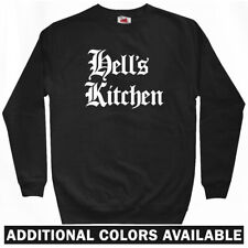 Hell's Kitchen Gothic NYC Sweatshirt Crewneck - 212 Manhattan NY 917 - Men S-3XL