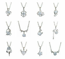 Silver Plated Horoscope Star Sign Pendant Necklace