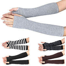 Fashion Unisex Knit Wrist Arm Warmer Fingerless Hand Long Mitten Gloves Wamer