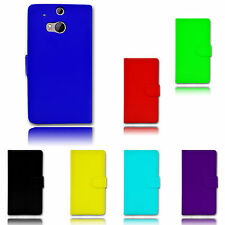 Magnetic Side Wallet Flip Book Holder Leather Pu Case Cover For HTC ONE M8 UK