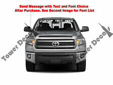 Custom Text Vinyl Window Decal Sticker - Fits Toyota Tundra SR SR5 Limited