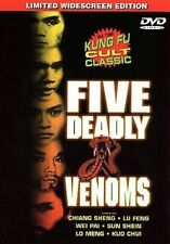 Five Deadly Venoms (DVD, 2000) Limited Wide Screen Edition!!!  Like new