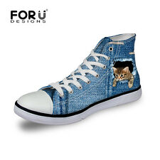 fashion cool animals Women's Lady's Beautiful High Top Canvas Shoes Sneakers New