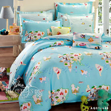 100% Cotton King Queen Full Twin Size Bed Duvet/Quilt Cover Bed Set Linen Floral