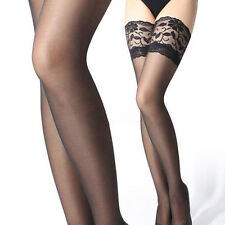 Sexy Women Lace Top Stay Up Thigh High Stockings Nightclubs Pantyhose Tights