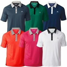 *NEW* 2016 Adidas Mens Climachill 3-Stripes Performance Golf Polo Shirt