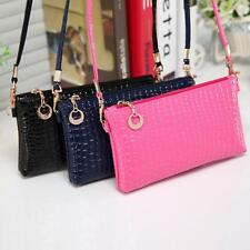 Fashio Womens Shoulder Handbag Crocodile Leather Messenger Crossbody Clutch Bags