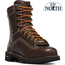 "Danner Quarry USA 8"" Brown AT Leather Work Boots 17307 Vibram Gore-Tex"