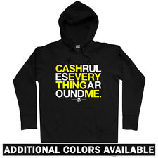 CREAM Hoodie - Wu Tang Cash Rules Everything Around Me Lyrics Hip-Hop  Men S-3XL