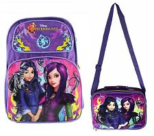 "Disney Descendants Large 16"" School Backpack or Lunch Bag Kit Mal & Evie 1pc"