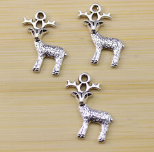 wholesale:15/30/100 pcs Very lovely Tibet silver deerlet charm pendant 24x15 mm