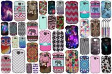 For Samsung Brightside U380 Designs Snap On Hard Cover Phone Case + Crystal Pen