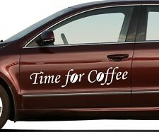 Bumper Sticker Time for Coffee coffee beans Decoration Tattoo Sticker 5Q801