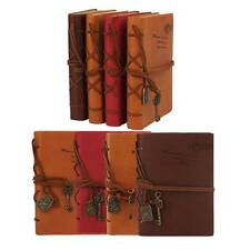 160 Page Retro Classic Vintage Leather Bound Blank Pages Journal Diary Notebook