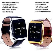 Gold Waterproof SIM Card Bluetooth Smart Wrist Watch Phone Mate For Android IOS
