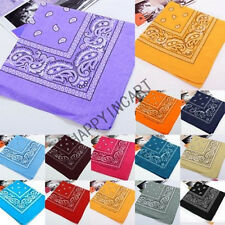 Bandana Headwrap Neck Scarf Wristband Handkerchief Cotton Head Wrap Paisley New
