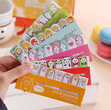 120X Animal Flags Sticker Post-It Bookmark Marker Memo Index Tab Sticky Notes