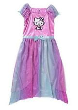 Girls HELLO KITTY Nightgown Dress Size 6/6X 7/8 Rainbow Pink pajamas NWT tulle