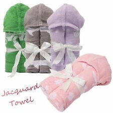 Brand New Baby Kids Jacquard Bath Wrap Hooded Cartoon Cute Towel Size 38''*50''
