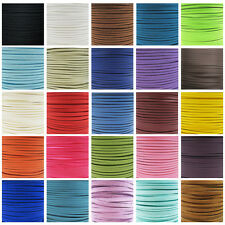FAUX SUEDE FLAT CORD 3mm & 5mm *47 COLOURS* CRAFTS JEWELLERY MAKING STRINGING