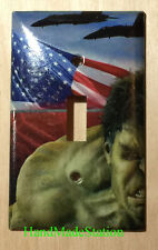 Hulk US Flag Air Force Light Switch Duplex Power Outlet Cover Plate Home decor