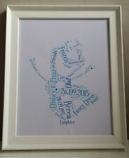 Christmas gift Disney's Olaf Personalised Word Art Gift - Unique and thoughtful