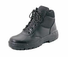 "TACTICAL BOOTS 6"" BLACK LEATHER WORK POLICE SECURITY HIKING  ALL SIZES 5 TO 15"