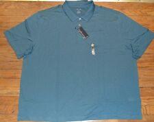 Van Heusen Short Sleeve Polo Top Feeder Stripe Blue MSRP 60.00 Big & Tall