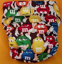 Adult New AIO Reusable Super Absorbent Cloth Diaper S,M,L,XL M & Ms
