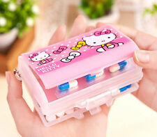 New Cute Hello Kitty Pill Box Organizer Medicine Vitamin Storage Travel AA-S55