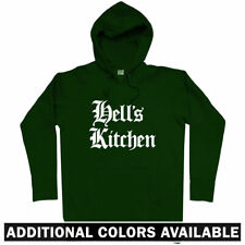 Hell's Kitchen Gothic NYC Hoodie - Hells New York City Manhattan 212 - Men S-3XL