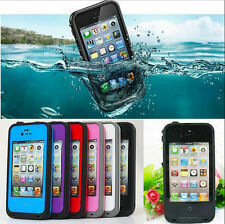 Swimming Use PC Waterproof Shock Dirt Snow Proof Hard Cover Case For iPhone 4S 4