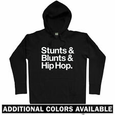 Stunts Blunts Hip-Hop Hoodie - Rap Lyrics Marijuana Rapper Street Life Men S-3XL