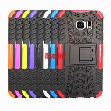 For Samsung Galaxy S6 3D 2in1 Shockproof Defender Rugged Hard Case TPU Cover