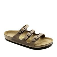 Birkenstock Oiled Leather Florida $179.95rrp - Tobacco Brown - BNIB