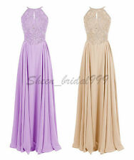 Stock Beaded Long Formal Evening Prom Ball Party Bridesmaid Dress Stock Siz 6-22