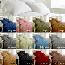 1000TC 3pc Duvet Set in Solid 8 Colors 100% Egyptian Cotton in All Bedding Size