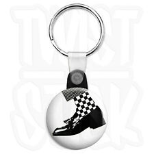 2-Tone Dance Craze - 25mm Rude Boy, Ska Keyring Button Badge, Zip Pull Option