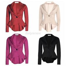 Women One Button Slim Casual Business Blazer Suit Jacket Coat Outerwear Pullover
