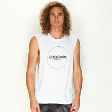 New Afends Byron Muscle Tank in White | sale Mens Sale Mens Sale Singlets