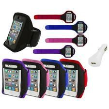 Color Running Sports Gym ArmBand+White Charger for iPhone 4 4G 4S 3GS S 3G 2G