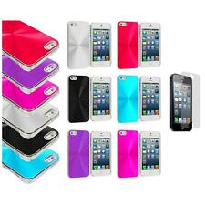 Chrome Aluminum Hard Luxury Case Accessory+Screen Protector for iPhone 5 5S