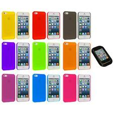 Ultra Thin 0.5mm Color Transparent Matte Case Cover+Sticky Pad for iPhone 5 5S