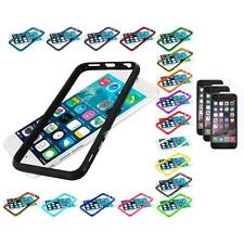 For Apple iPhone 6 (4.7) TPU Bumper Frame Case+3X Clear Screen Protector