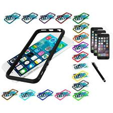 For Apple iPhone 6 (4.7) TPU Bumper Frame Case+3X Screen Protector+Stylus