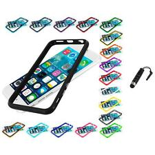 For Apple iPhone 6 (4.7) TPU Bumper Frame Metal Buttons Case Stylus Plug