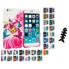For Apple iPhone 6 (4.7) TPU Design Soft Case Cover Skin Cable Wrap