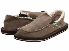 Men's Shoes Sanuk Vagabond Chill Slip On Sidewalk Surfers SMF1054 Brown *New*