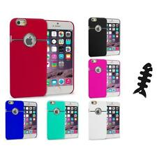 For iPhone 6 Plus (5.5) Hard Deluxe Chrome Rear Slim Case Cover Cable Wrap