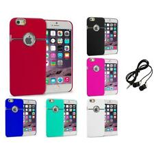 For iPhone 6 Plus (5.5) Hard Deluxe Chrome Rear Slim Case Cover Headphones